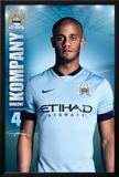 Manchester City Kompany 14/15 Print