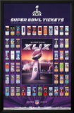 Super Bowl XLIX - Tickets Prints