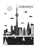 Toronto. Canada. Vector Poster by  Ladoga