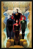 DC Comics Team - Art Deco Póster