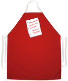 Fire Dept Note Apron Apron