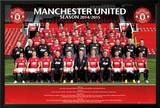 Manchester United Team 14/15 Print