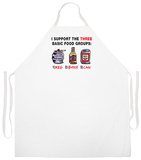 3 Basic Food Groups Apron Forkle