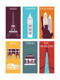 Famous Cities Poster by  Ladoga