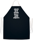 Does Not Cook Well Apron Apron