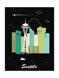 Seattle Washington.Vector Prints by  Ladoga
