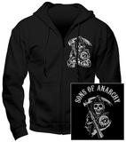 Hoodie: Sons Of Anarchy - Samcro (Front/Back) - Fermuarlı Kapüşonlu Sweatshirt