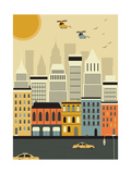 Helicopters over the New York. Posters by  Ladoga