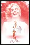 Marilyn Monroe - White-Pink-Smile Print