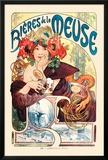 Cervezas de Meuse (Bieres De La Meuse) Fotografía por Alphonse Mucha