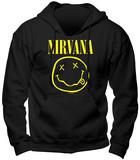 Hoodie: Nirvana - Smiley Pullover Hoodie