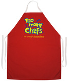 Too Many Chefs Apron Grembiule