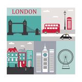 Symbols of London.Vector Poster por  Ladoga