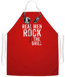 Real Men Rock Apron Forkle