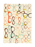 Seamless Background from Sunglasses. Prints by  Ladoga