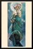 La Luna Póster por Alphonse Mucha