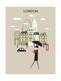 Man in London. Poster von  Ladoga