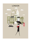 Man in London. Prints by  Ladoga