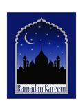 Greeting Card for Holy Month of Ramadan Kareem Prints by  anasztazia