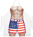 American Flag Shorts Apron Forkle