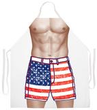American Flag Shorts Apron Apron