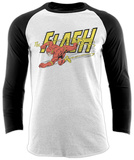 Raglan Sleeve: The Flash - Vintage T-skjorter