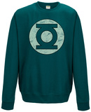 Crewneck Sweatshirt:Green Lantern - Distressed Logo Shirts