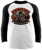 Raglan Sleeve: Sons Of Anarchy - Samcro Skjorta