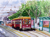 Streetcar Watercolor Sketch Prints by  jim80