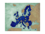 Map of Europe - European Union (Dark) Posters by  Tindo