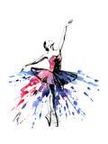 Ballerina Giclée-Premiumdruck von  okalinichenko