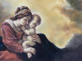Olio Su Tela Di Una Giovane Donna E Il Suo Bambino Art by  robangel69