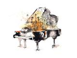 Grand Piano Poster by  okalinichenko
