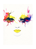 Woman Portrait .Abstract Watercolor .Fashion Background Art by Anna Ismagilova