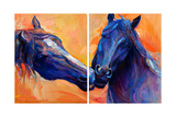 Blue Horses Prints by Boyan Dimitrov