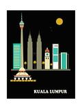 Kuala Lumpur City. Vector Art by  Ladoga