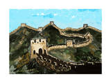 Cg Painting Great Wall Posters van  jim80