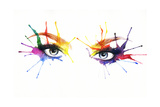 Woman Eyes .Abstract Watercolor Prints by Anna Ismagilova