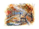 Autumn Park Posters by  okalinichenko