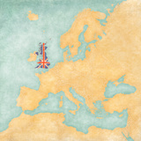 Map of Europe - United Kingdom (Vintage Series) Posters by  Tindo