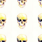 Skull .Seamless Pattern.Seamless Texture.Watercolor Illustration Posters by Anna Ismagilova