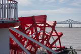 New Orleans - Paddlewheel, River, and Bridge Photographic Print by  james_pintar