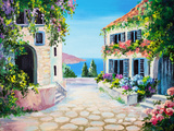 Oil Painting on Canvas - House near the Sea Posters par  max5799