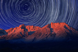 Night Exposure Star Trails of the Sky in Bishop California Photographic Print by Katrina Brown