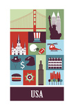 Usa. Vector Prints by  Ladoga