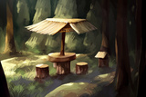 Digital Panting Breaking Spot in Forest Posters by  non157