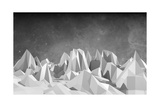 Low Poly Mountains Landscape Posters by JEGAS RA