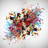 Bright Abstract Background Print by  reznik_val