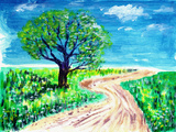 Oil Painting Road and Tree Posters by  jim80