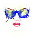 Woman with Glasses. Fashion Illustration Prints by Anna Ismagilova